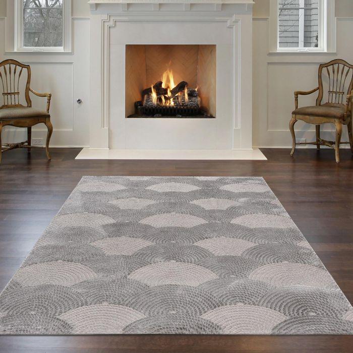 Designer Teppich 3D Dropdream in Grau | MY6000S Luxury-6000-grau Kurzflor Teppiche