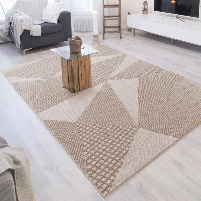 Aktuelle Trends-Jetzt Teppich vorbestellen Designer Teppich 3D Art Studio in Beige | MY6300J