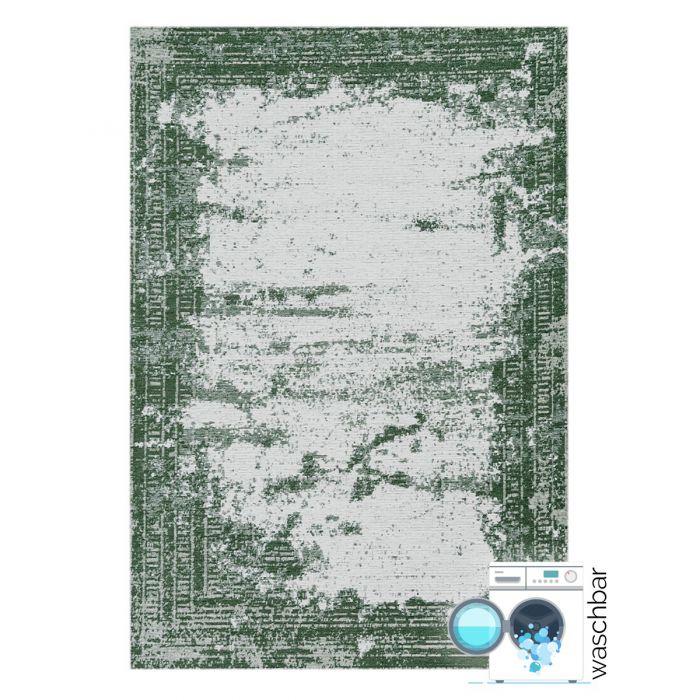 Kurzflorteppich mit Baumwolle | Indigo Aztek Grün | MY6912 CARINA 6912 Abstrakte Muster