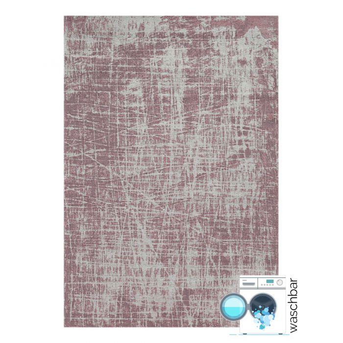 Teppich aus Baumwolle Antibakteriell Baumwolle Teppich Waschbar | Young Pattern Rosa | MY6920