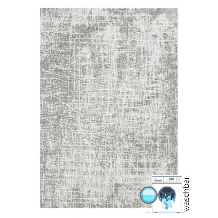 Kurzflor Teppiche Antibakteriell Baumwolle Teppich Waschbar | Young Pattern Grau | MY6921