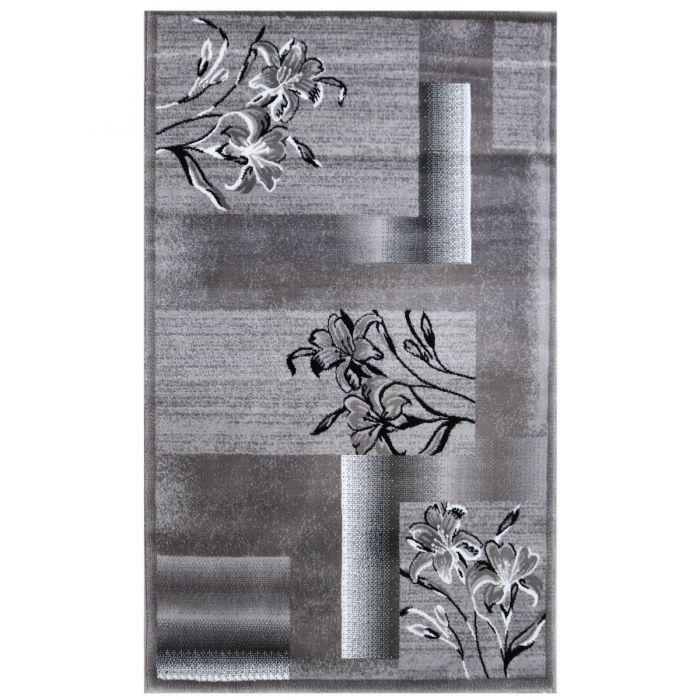 Kurzflor Teppich Grau   Teppich Wohnzimmer Modern MY7820 Marmaris-7820 Kinderteppiche