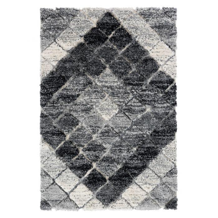 Deluxe Shaggy Teppich | Grau Boho Bahama | MY8815 BAHAMA 8815 GRAU/GRAU Geometrische Muster