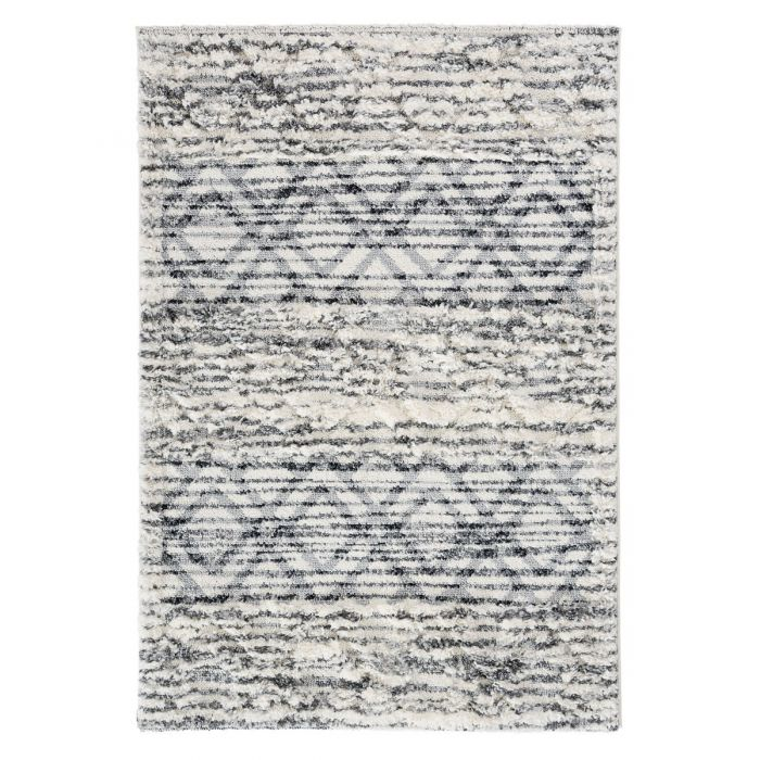 Deluxe Shaggy Teppich | Grau Boho Bahama | MY8816 BAHAMA 8816 CREAM/CREAM Geometrische Muster