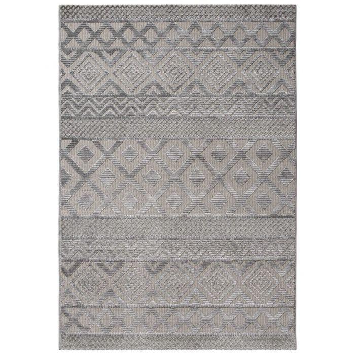 Designer Teppich 3D Skandi Pattern in Grau | MY6100S Luxury-6100-grau Vintage Patchwork Muster