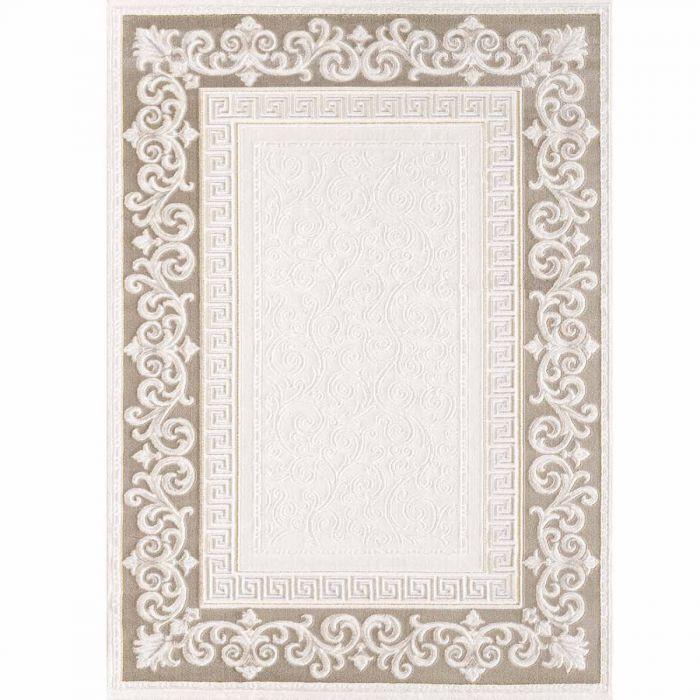 Designer Teppich in Braun Cream mit Vintage Muster | Bordüre MY3206 HAR-3206-Braun Aktuelle Trends Inspirieren
