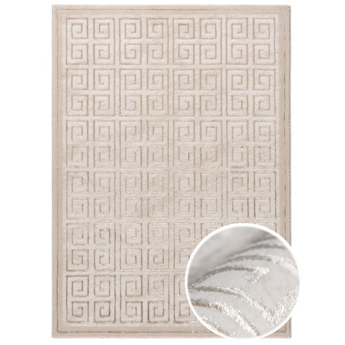Aktuelle Trends Golden Collection Designerteppich Designerteppich Pattern Versace in beige | MY703