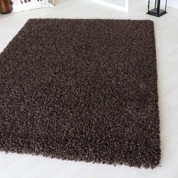 50 mm | Shaggy Hochflor Teppich Braun | 2 Farbige Melierung MY160 Homestyle-160-Braun Teppich Wohnzimmer