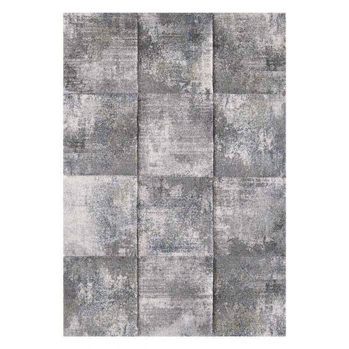 Moderner Kurzflor Teppich Grau Grün geometrisches Design | 2903 Sanat-LORENA_2903 Geometrische Muster
