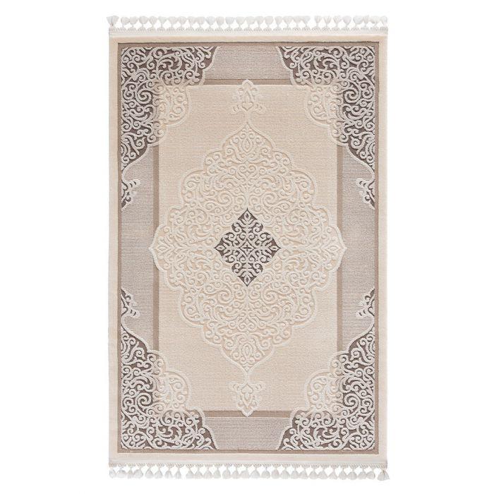 Moderner Designer Teppich Acryl in Beige Braun | 6826 SANAT-DELÜKS_6826 Vintage Teppiche