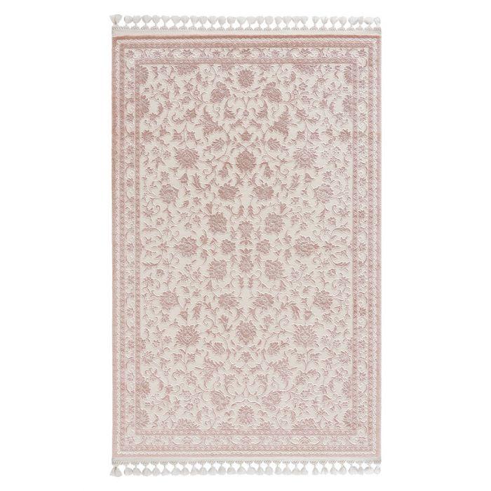 Vintage Teppiche Moderner Designer Teppich Acryl in Weiß | 6896
