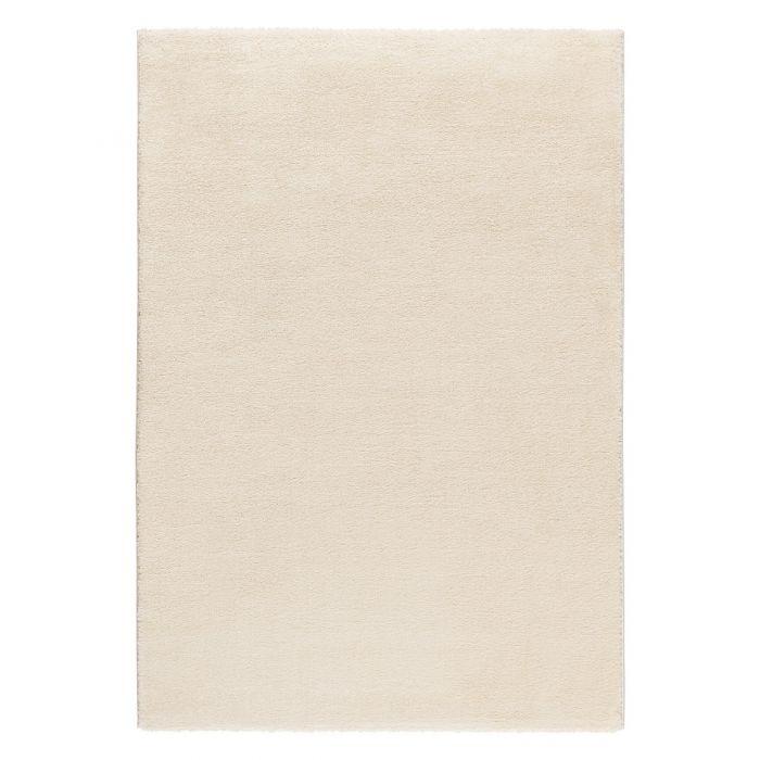 Gepunktete Muster Hochwertiger Kurzflor Wohnzimmerteppich | Hell Cream gepunktet | MY181R