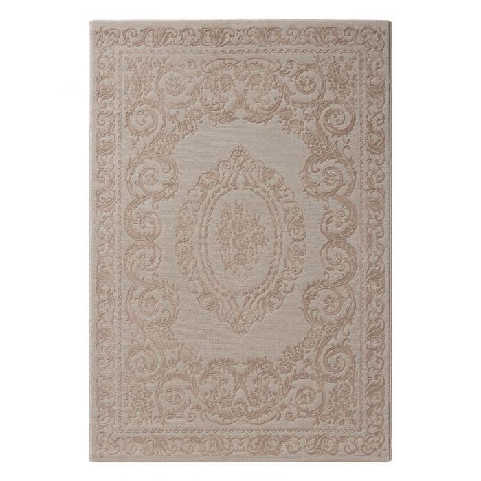 Vintage Patchwork Muster Vintage Teppich mit Medaillon in Braun Beige | MY6650J