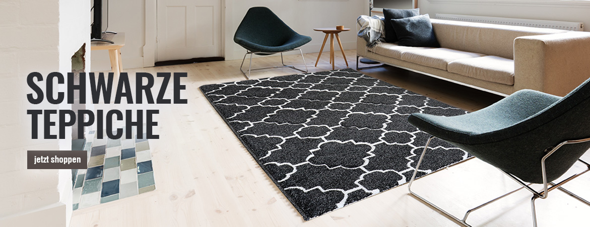 Teppiche in Schwarz