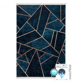 antibakteriell waschbarer teppich in gold petrol geometrische design my5800. Black Bedroom Furniture Sets. Home Design Ideas