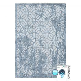 waschbarer teppich baumwolle antibakteriell modern blau my6931. Black Bedroom Furniture Sets. Home Design Ideas