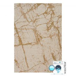 waschbarer teppich baumwolle antibakteriell abstrakt gelb my6950. Black Bedroom Furniture Sets. Home Design Ideas