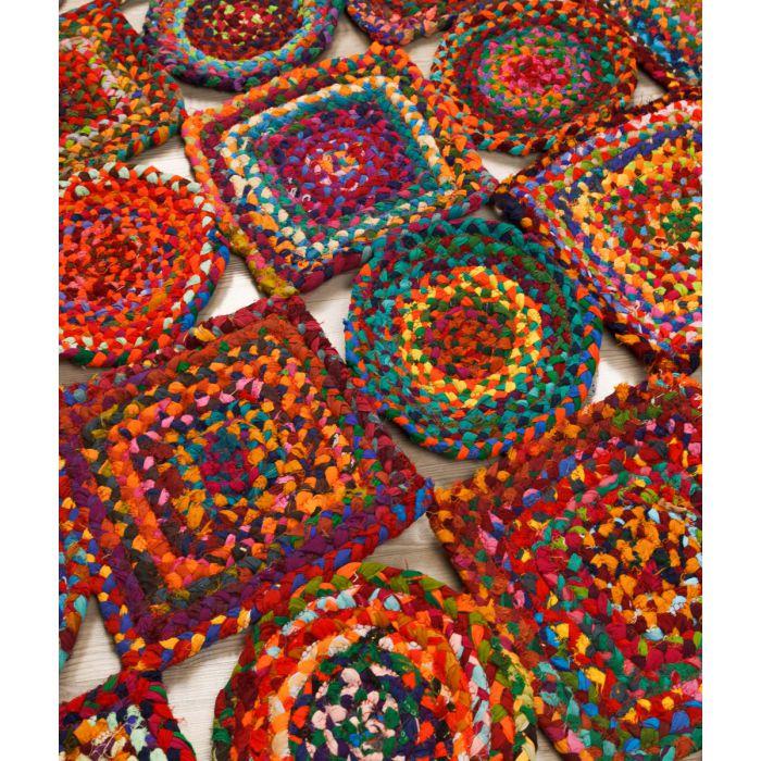 Jute Teppich Rana 00009 Handgeflochten Multi