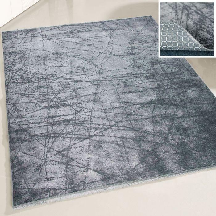 Teppich Waschbar Antibakteriell Schwarz Elegant Abstrakt M1200BGW