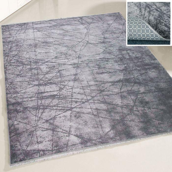 Teppich Waschbar Grau | Elegant Abstrakte Muster | MY1200S Majestik-1200-Grey Used Look Teppiche