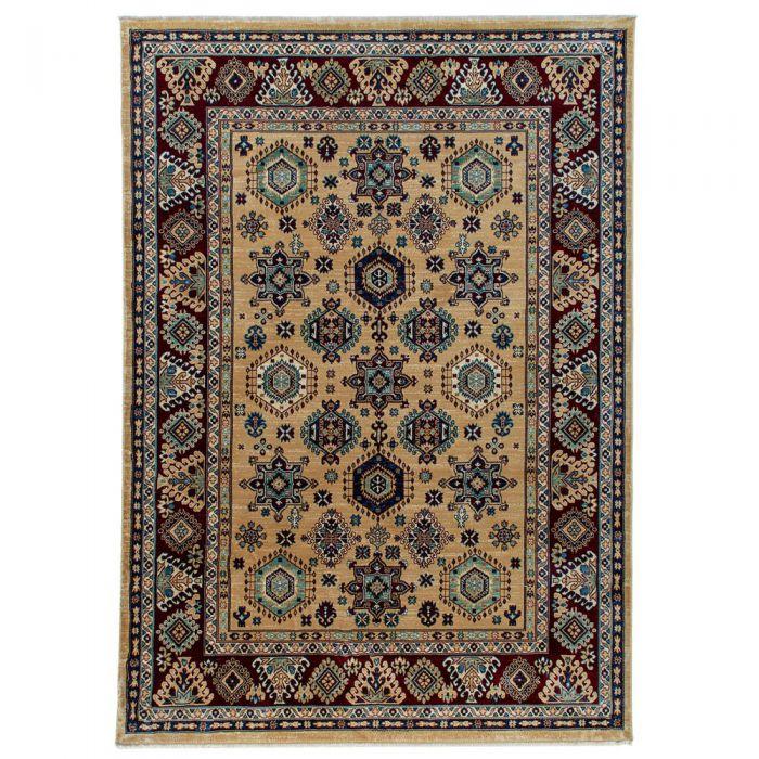 Hochwertiger Orientteppich Seidenimitat | Kurzflor Beige MY1349 | 80x240 cm 47323 Teppiche in 80x300 cm