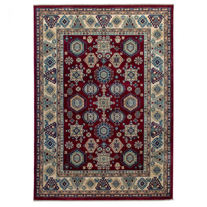 Hochwertiger Orientteppich Seidenimitat | Kurzflor Rot MY1349 Ornament 1349/030 rot Schlafzimmer