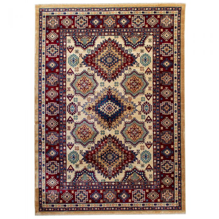 Hochwertiger Orientteppich Seidenimitat | Kurzflor Cream MY1354 | 80x240 cm 47337 Teppiche in 80x300 cm