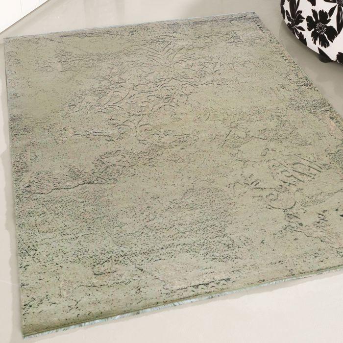 Teppich Waschbar Beige einfarbig | Abstrakt Modernes Muster | MY1500J Majestik-1500-Beige Used Look Teppiche