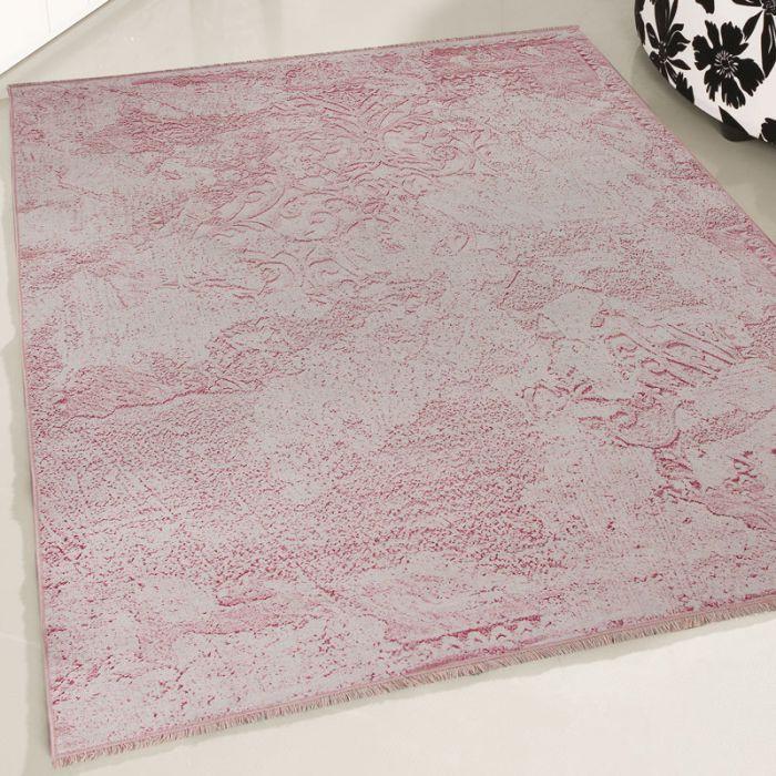 Teppich Waschbar Antibakteriell Rosa einfarbig Modernes Muster M1500P