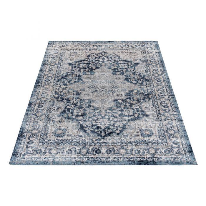 Vintage Teppich Antares Oriental Grau Blau A2020