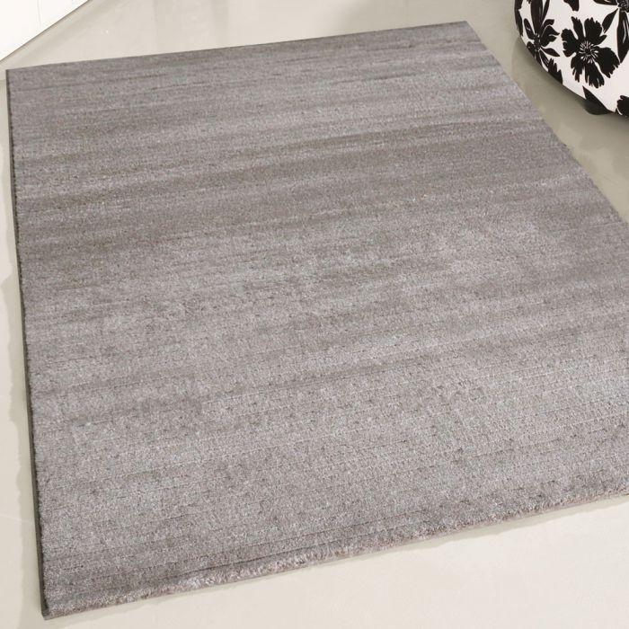 120x170 cm Moderner Kurzflor Teppich Beige mit Rillen Farbverlauf MY302J