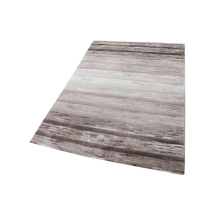 Kurzflor Teppich Modern Beige Braun Designer Farbverlauf M303B