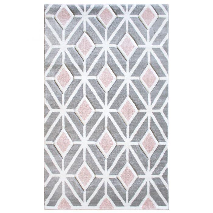Teppich Kurzflor Rosa Skandinavisch Design M309RO