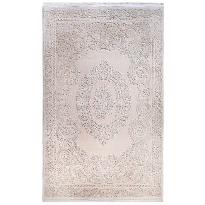 Designer Teppich Beige | 3D Medaillon Muster MYP4204 ArtPrem-4204-Beige Alle Artikel