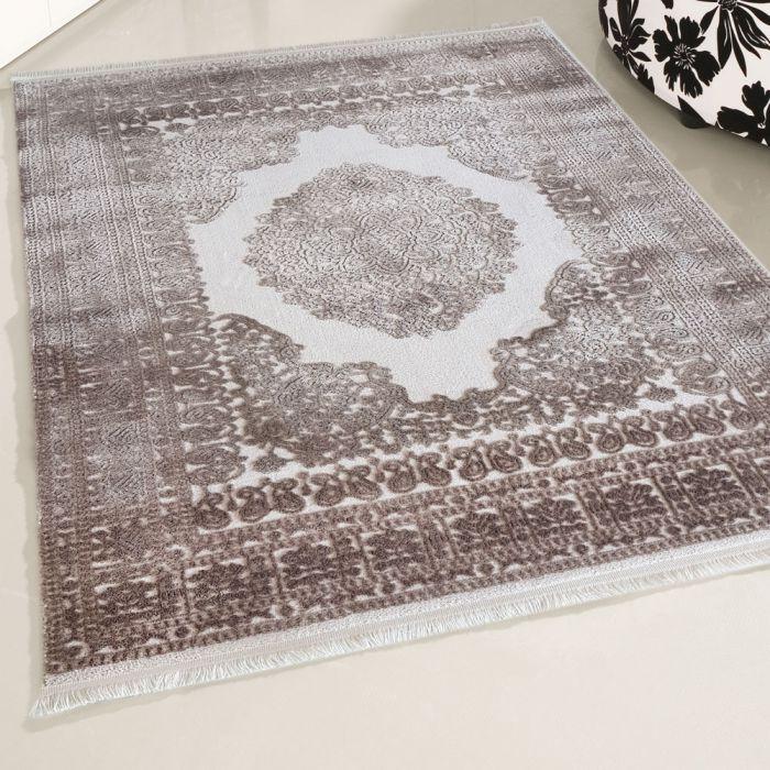 Designer Teppich Beige Braun | Designer Medaillon MY4212 Art-4212-Beige Used Look Teppiche