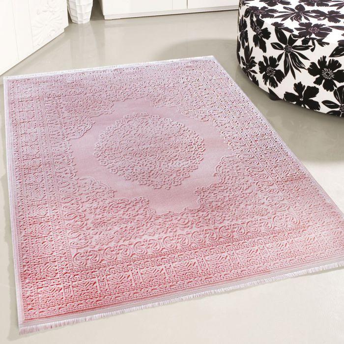 80x150 cm Designer Teppich Rosa 3D Struktur Muster MYP4212RO