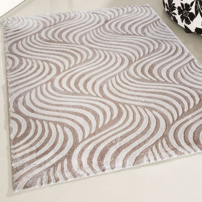 120x170 cm Designer Teppich Beige Retro Designer Style MY4239