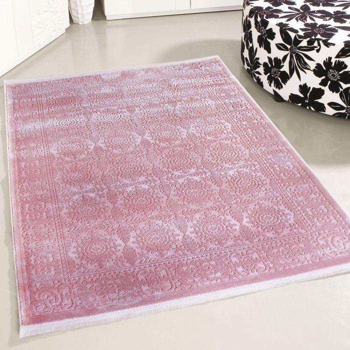 80x150 cm Designer Teppich Pink 3D Vintage Durchgemustert MYP4283P