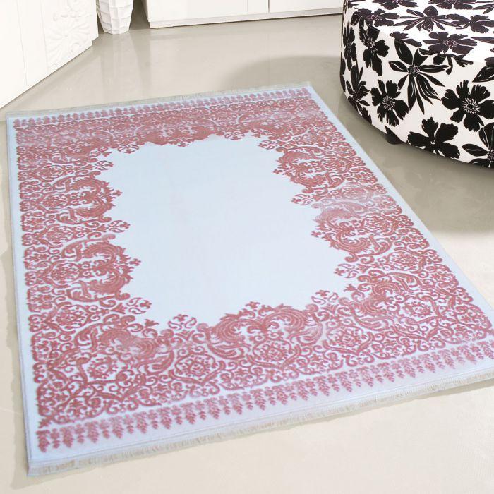 120x170 cm Oval Designer Teppich Rosa Creme 3D Vintage Barock MYP4286