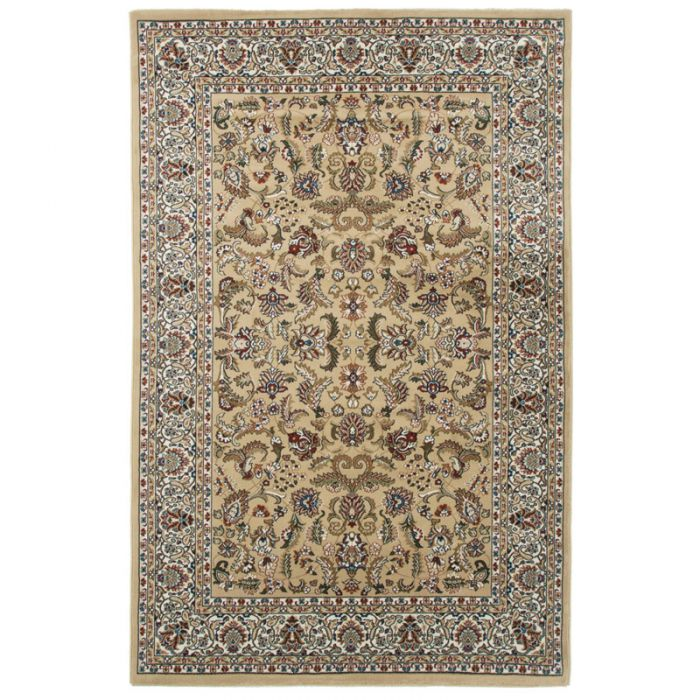 160x230 cm Orientteppich Beige Orientalisch Durchgemusterte Bordüre MY804
