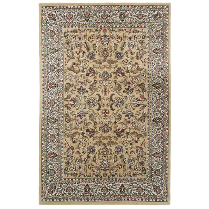 60x110 cm Orientteppich Beige Orientalisch Durchgemusterte Bordüre MY804