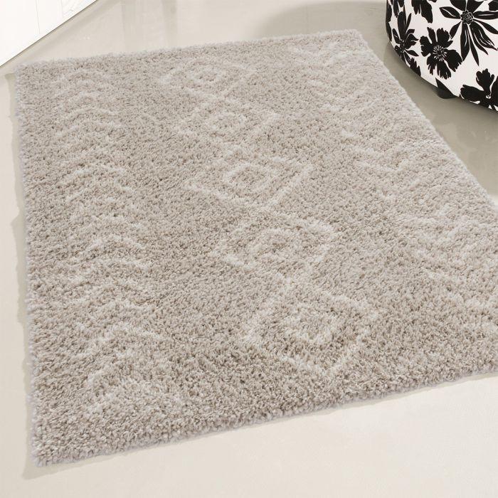 Ethno Kurzflor Shaggy Teppich | Boho Beige 30 mm | MY8685CL ETHNO 8685 CREAM/L.BEIGE Vintage Patchwork Muster
