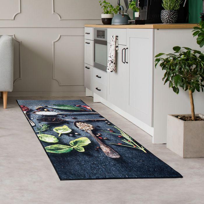 Teppich Küchenläufer Waschbar bei 30° C in der Waschmaschine in 65x180 cm | MY3000