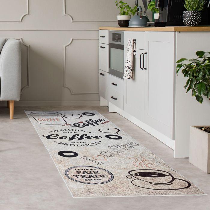 Teppich Küchenläufer Waschbar bei 30° C in der Waschmaschine in 65x180 cm | MY3020