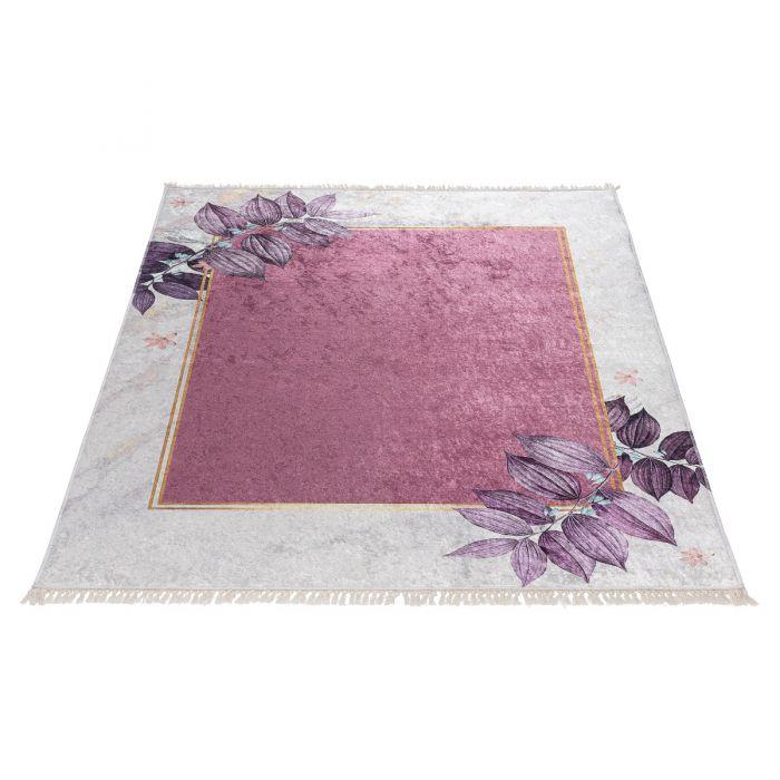 Waschbarer Teppich Antibakteriell in Creme Rosa Gold M5100