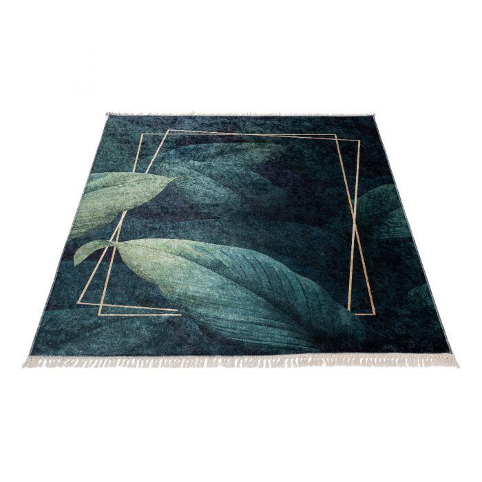 Waschbarer Teppich in Grün Gold| Floral Design | MY5300 CAIMAS-5300 Aktuelle Trends Waschbare Teppiche