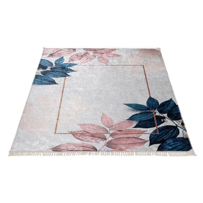 Waschbarer Teppich Antibakteriell in Beige Rosa Gold M5700