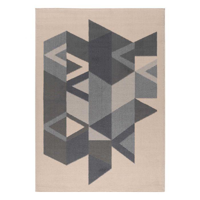 Kurzflor Teppich Grau Designer Pastel 3225S
