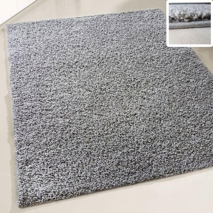 30 mm | Shaggy Hochflor Teppich Grau | Einfarbig Uni MY380 MyShaggy-380-Grau Schlafzimmer