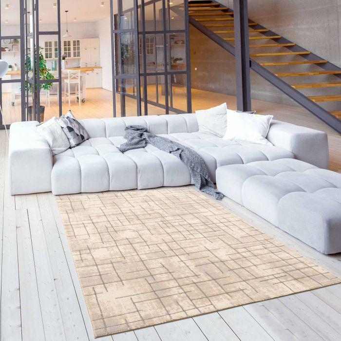 Designer Teppich Line Grau 3D LB804